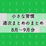 小さな習慣実践レポート:継続6週目〜13週目